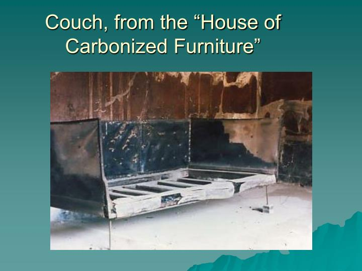 "Couch, from the ""House of Carbonized Furniture"""