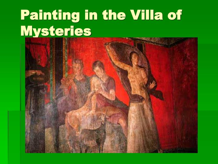 Painting in the Villa of Mysteries