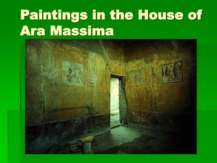 Paintings in the House of Ara Massima
