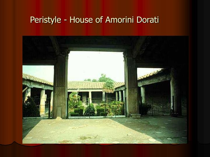 Peristyle - House of Amorini Dorati