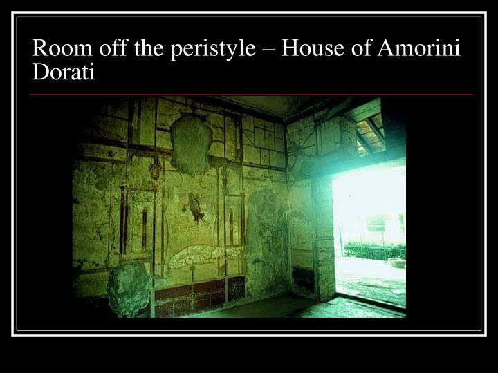 Room off the peristyle – House of Amorini Dorati