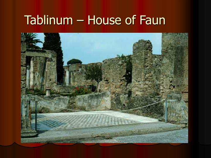 Tablinum – House of Faun