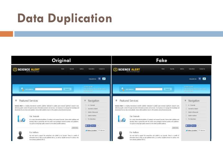 Data Duplication