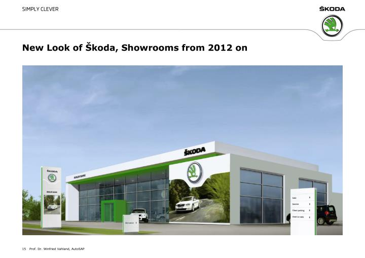 New Look of Škoda, Showrooms from 2012 on