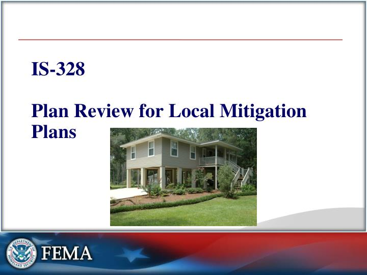 is 328 plan review for local mitigation plans n.