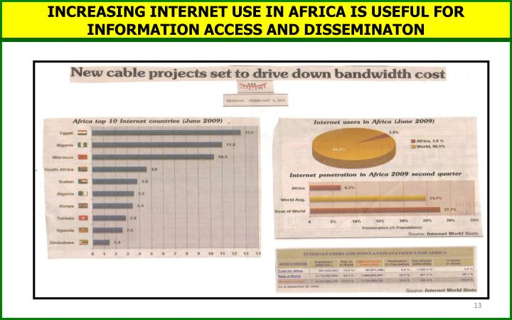 INCREASING INTERNET USE IN AFRICA IS USEFUL FOR