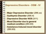 depressive disorders dsm iv
