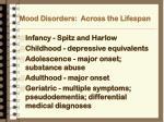 mood disorders across the lifespan