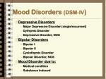 mood disorders dsm iv