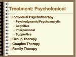treatment psychological