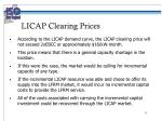 licap clearing prices