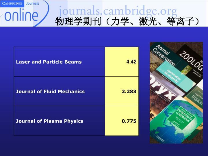 物理学期刊(力学、激光、等离子)