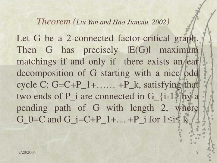 Theorem (