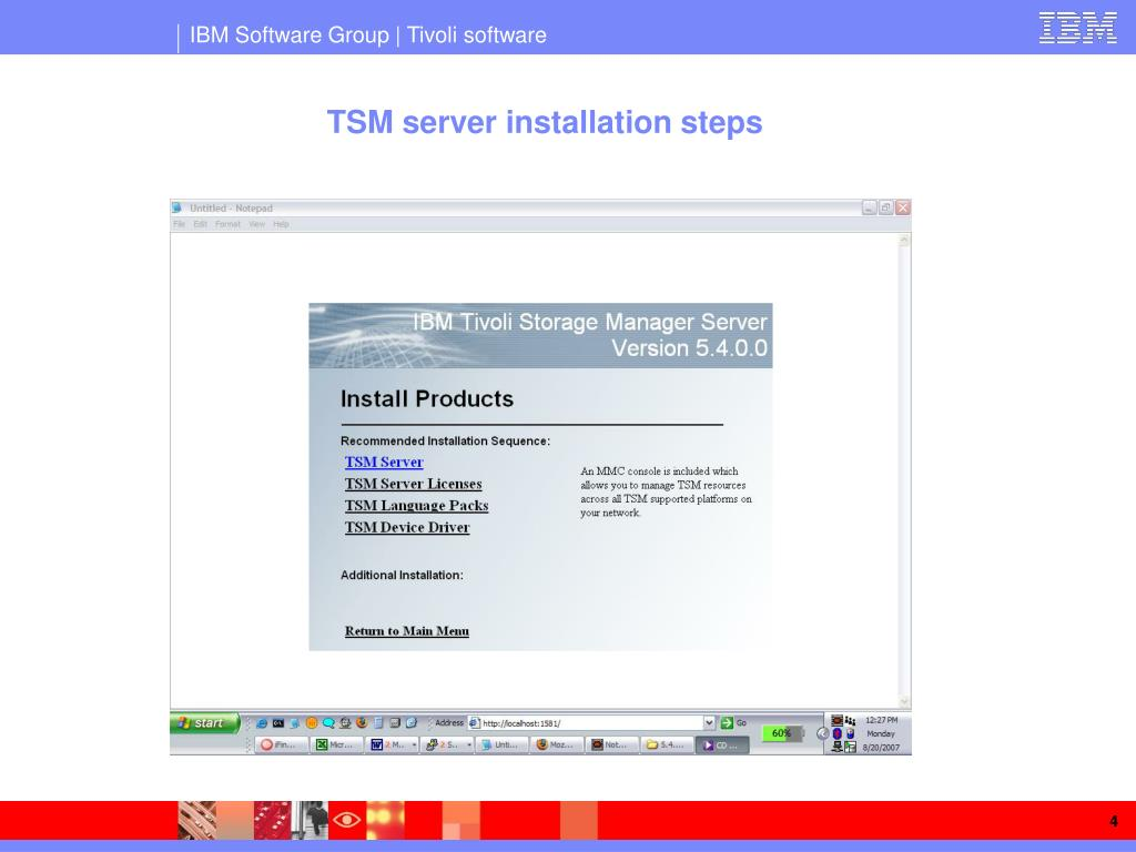 PPT - Hands-on Tivoli Storage Manager PowerPoint