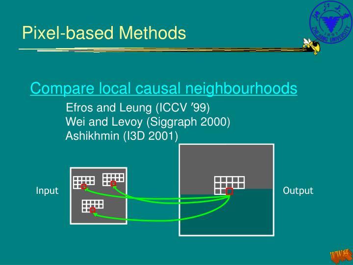 Pixel-based Methods