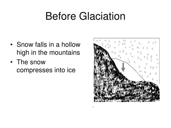 Before Glaciation