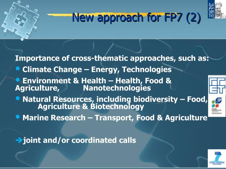 New approach for FP7 (2)