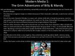 modern media 1 the grim adventures of billy mandy