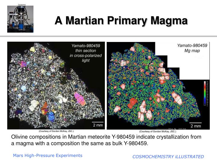 a martian primary magma n.