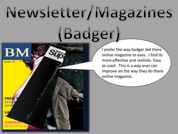 Newsletter/Magazines (Badger)