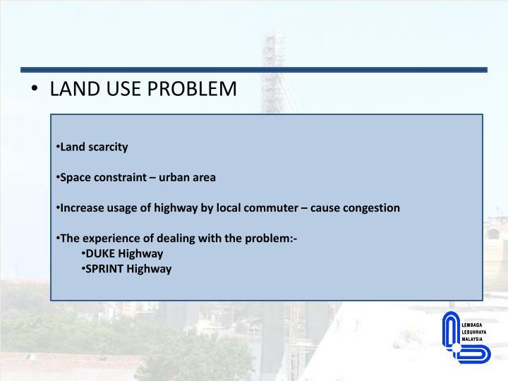 LAND USE PROBLEM
