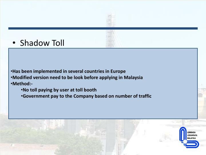 Shadow Toll