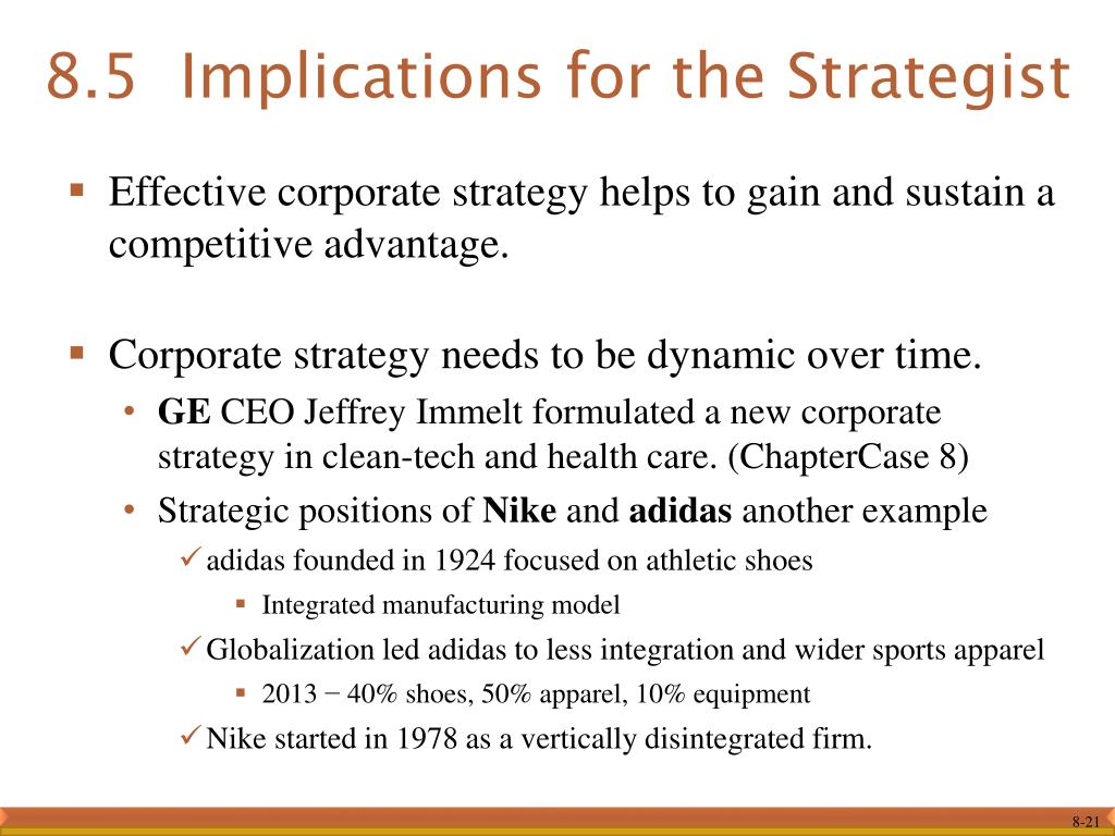 PPT - Chapter 8 Corporate Strategy: Vertical Integration and