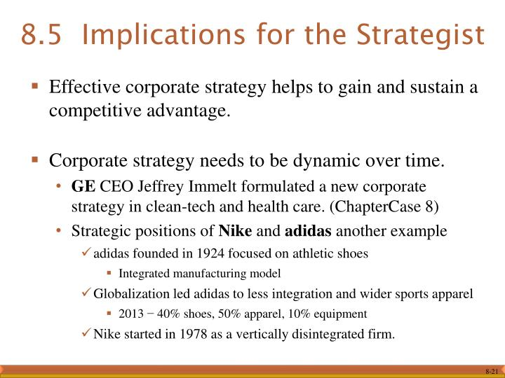 adidas competitive strategy