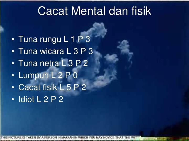 Cacat Mental dan fisik