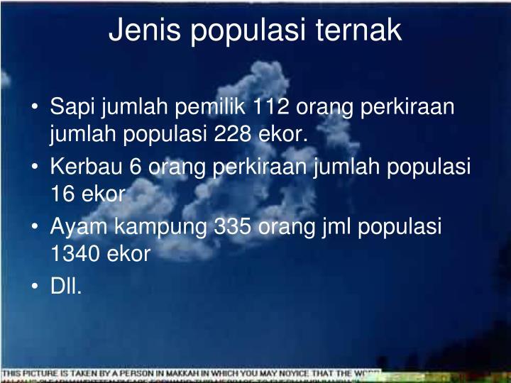 Jenis populasi ternak
