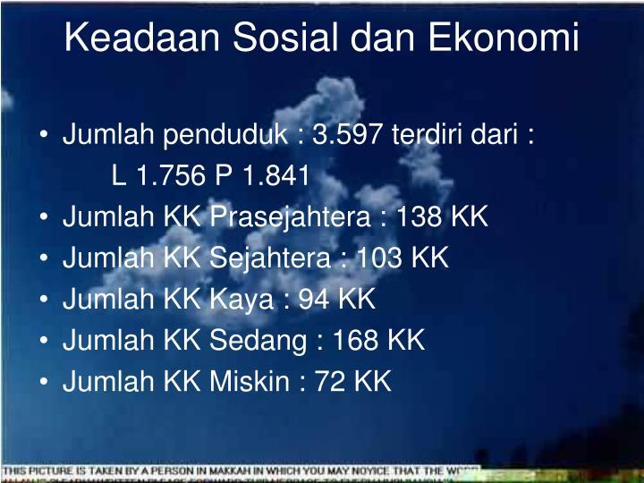 Keadaan Sosial dan Ekonomi