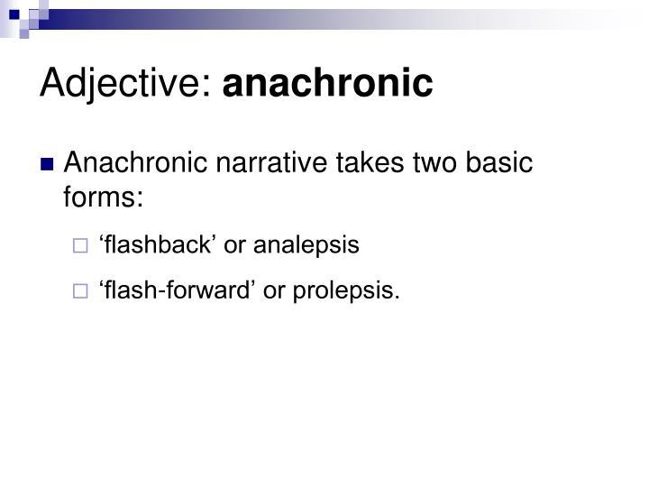 Adjective: