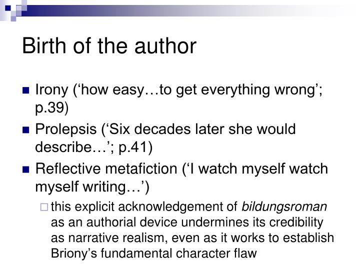 Birth of the author
