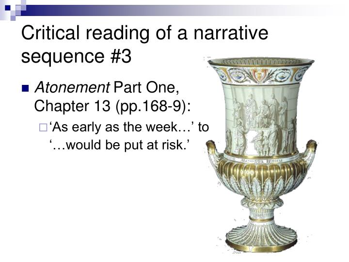 Critical reading of a narrative sequence #3