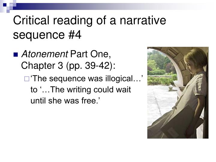 Critical reading of a narrative sequence #4