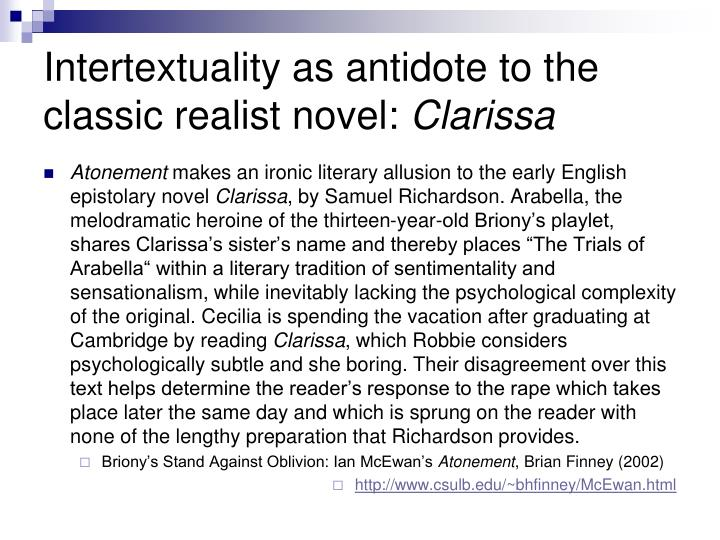 Intertextuality as antidote to the classic realist novel: