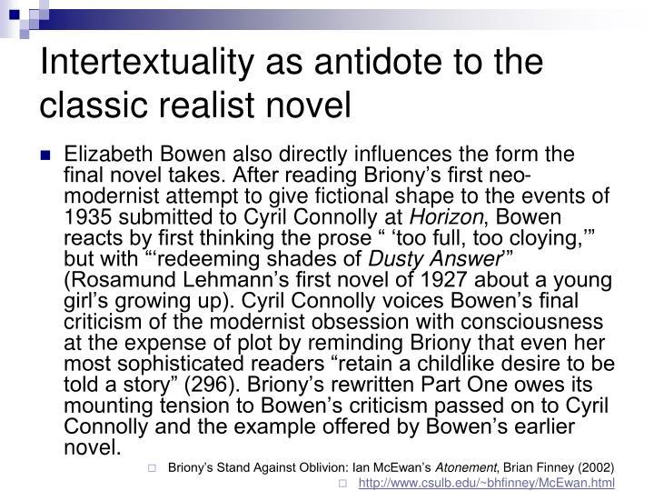 Intertextuality as antidote to the classic realist novel