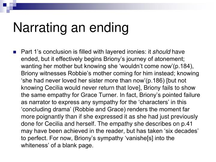 Narrating an ending