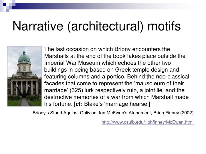 Narrative (architectural) motifs