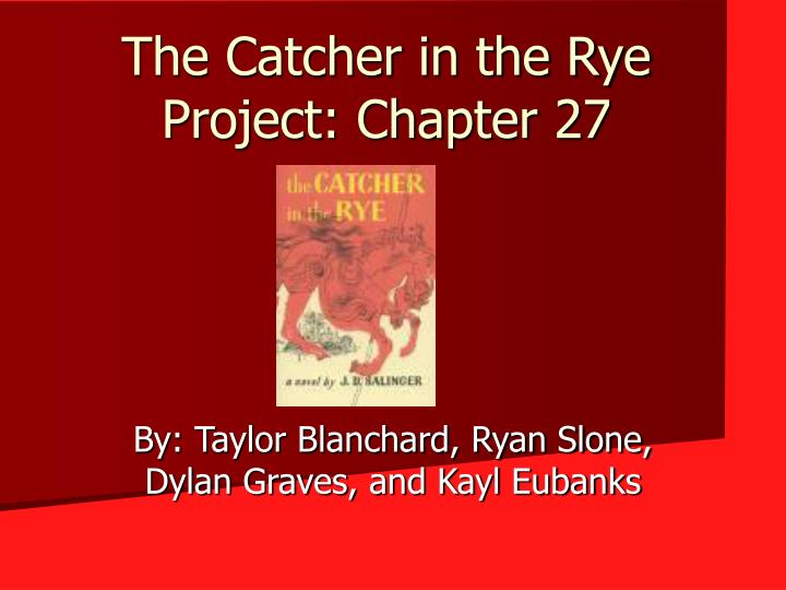 catcher in the rye personal Free essay: existentialism in catcher in the rye the catcher in the rye creates an existentialist out of holden caulfield by giving him a strong personal.