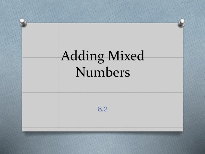 adding mixed numbers n.