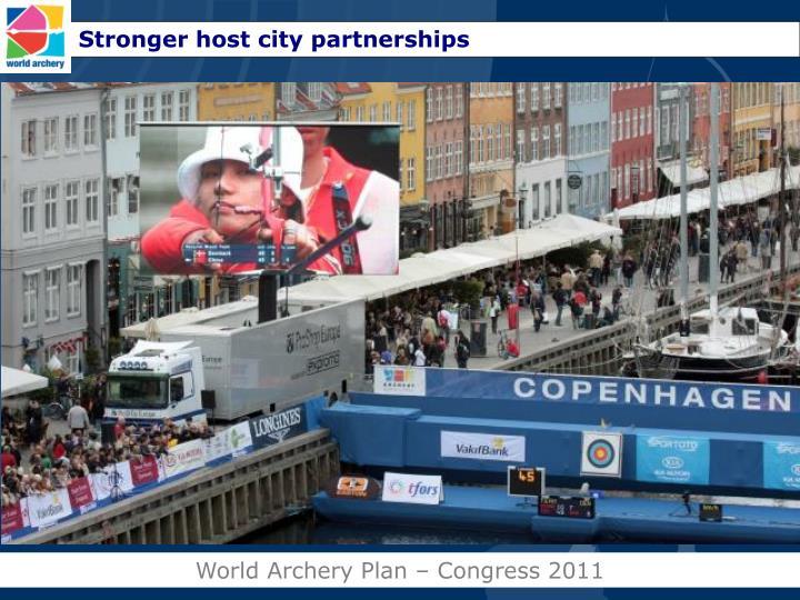 Stronger host city partnerships