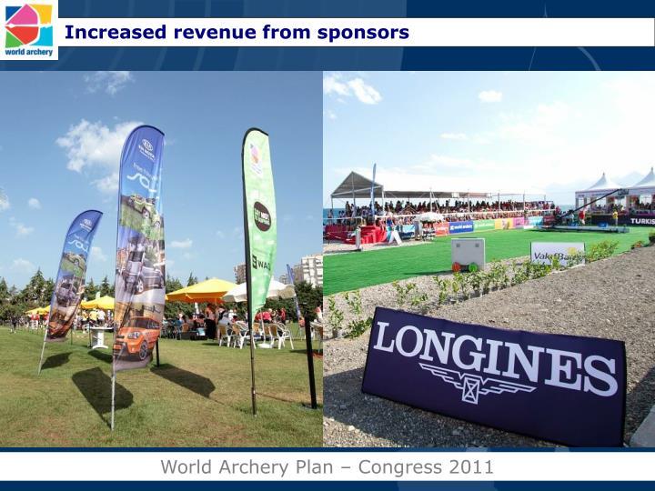 Increased revenue from sponsors