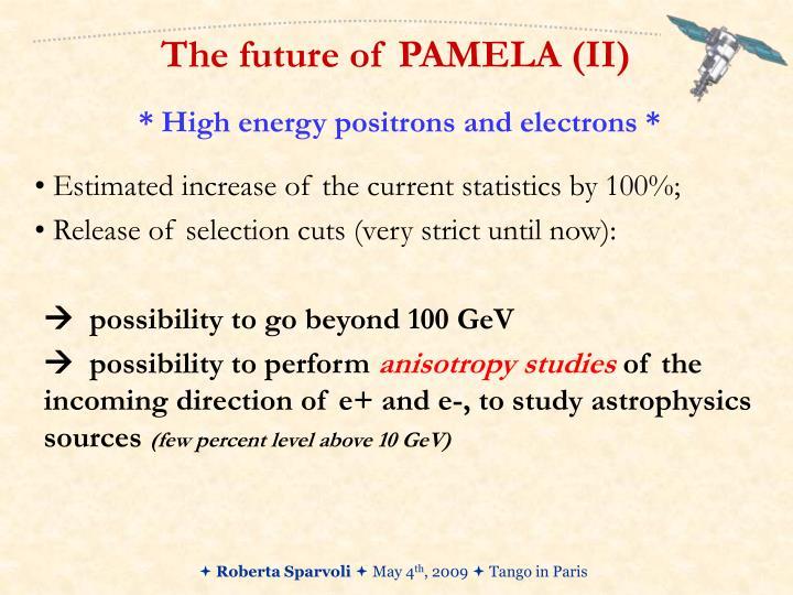 The future of PAMELA (II)