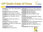 10 th grade areas of focus