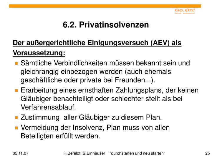 6.2. Privatinsolvenzen
