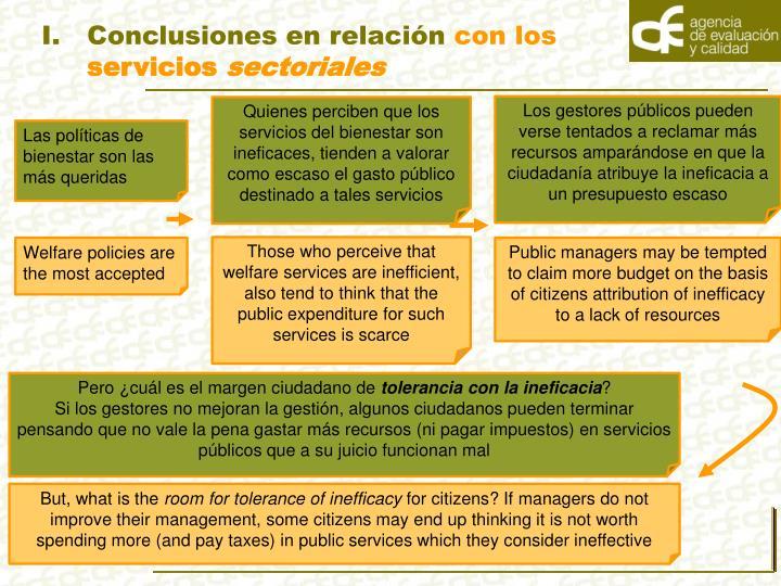 Conclusiones en relación