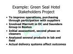 example green seal hotel stakeholders project