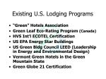 existing u s lodging programs