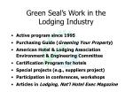 green seal s work in the lodging industry